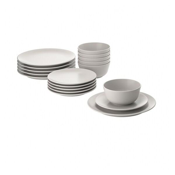 DINERA Service de vaisselle, 18 pièces, beige