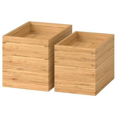 DRAGAN Accessoires bain, 4 pièces, bambou