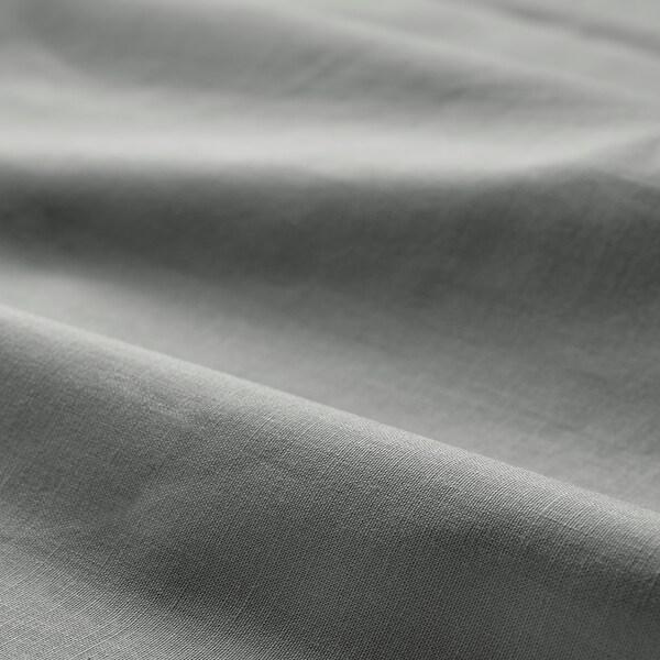 DVALA Drap-housse, gris clair, Une place