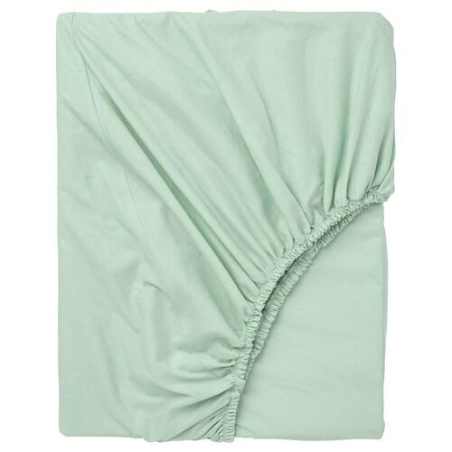 """DVALA drap-housse vert clair 152 pouces carrés 80 """" 76 """" 10 """""""