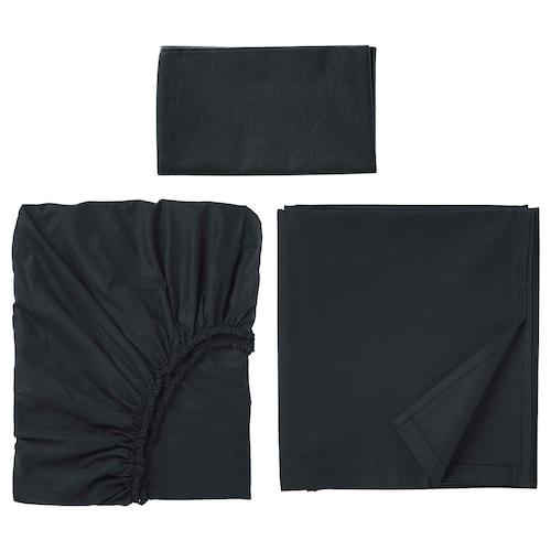 """DVALA ensemble draps noir 152 pouces carrés 38 """" 74 """" 1 pièces 20 """" 30 """" 66 """" 102 """" 10 """""""