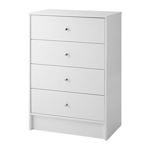 dyfjord commode 4 tiroirs blanc ikea. Black Bedroom Furniture Sets. Home Design Ideas