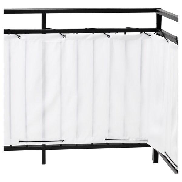 "DYNING Brise-vue pour balcon, blanc, 98 3/8x31 1/2 """