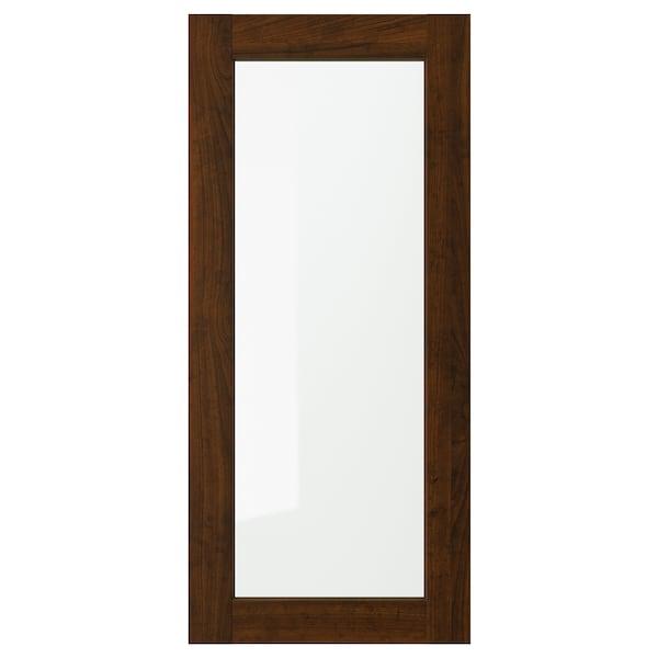 "EDSERUM Porte vitrée, effet bois brun, 18x40 """