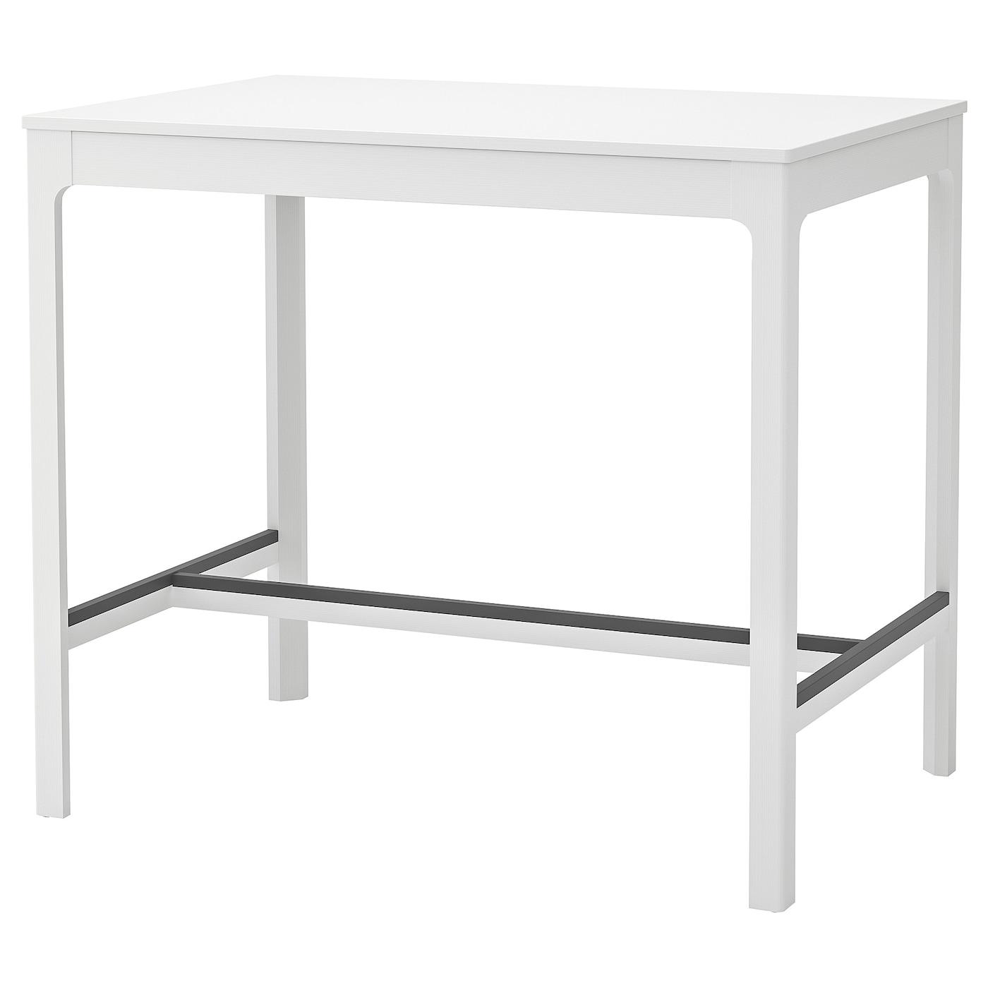 """Table Haute Avec Rangement ekedalen table haute - blanc 47 1/4x31 1/2 """" (120x80 cm)"""