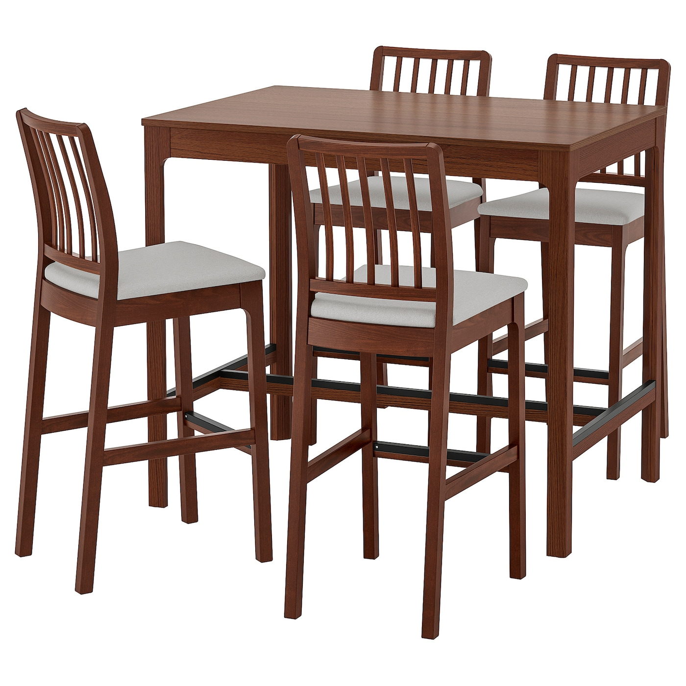 EKEDALEN / EKEDALEN Table haute + 4 tabourets bar - IKEA