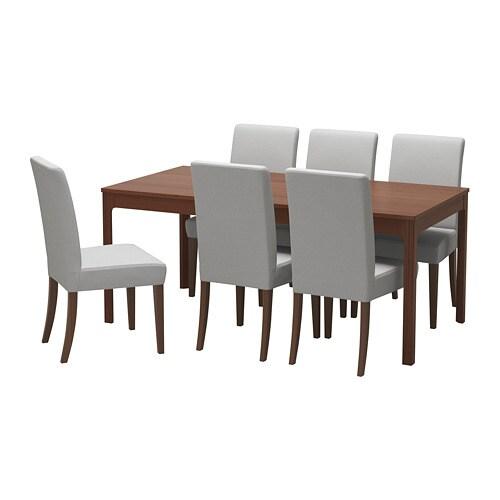 EKEDALEN HENRIKSDAL Table Et 6 Chaises