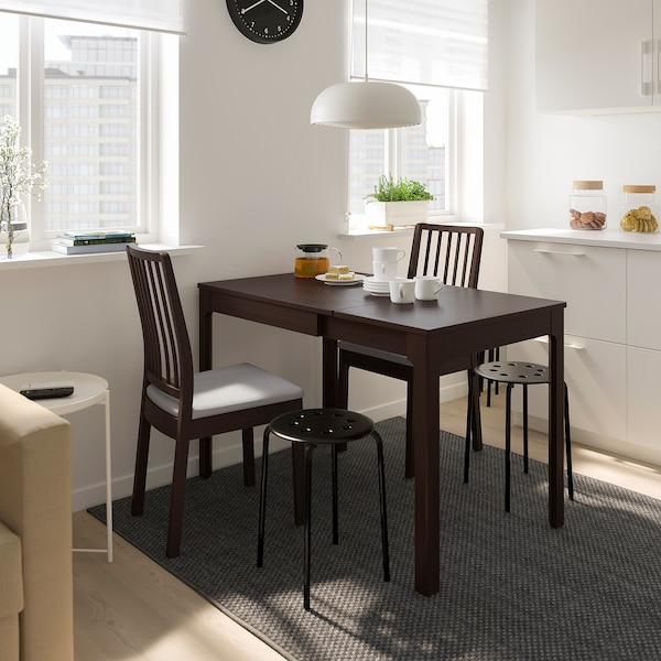 """EKEDALEN Table et 2 chaises, brun foncé/Orrsta gris clair, 31 1/2/47 1/4 """""""