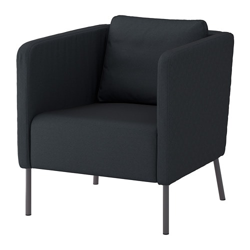 eker fauteuil idekulla bleu ikea. Black Bedroom Furniture Sets. Home Design Ideas