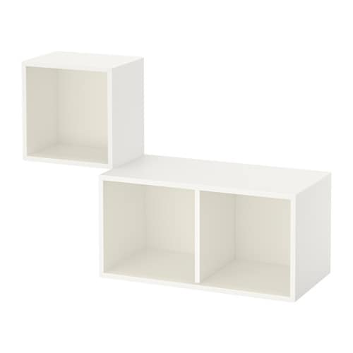 eket agencement rangement mural blanc ikea. Black Bedroom Furniture Sets. Home Design Ideas