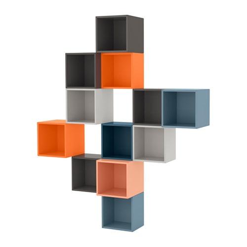 eket agencement rangement mural multicolore ikea. Black Bedroom Furniture Sets. Home Design Ideas