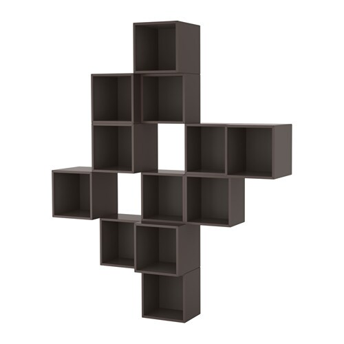 eket agencement rangement mural gris fonc ikea. Black Bedroom Furniture Sets. Home Design Ideas