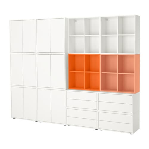 eket rangement avec pieds blanc orange orange clair ikea. Black Bedroom Furniture Sets. Home Design Ideas