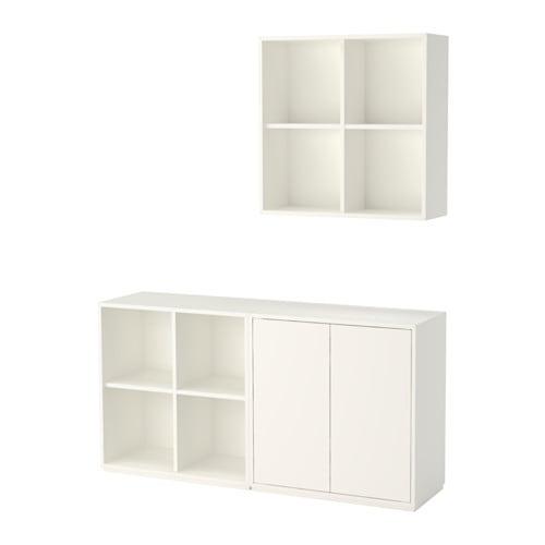 Eket rangement avec plinthe blanc ikea - Rangement exterieur ikea ...