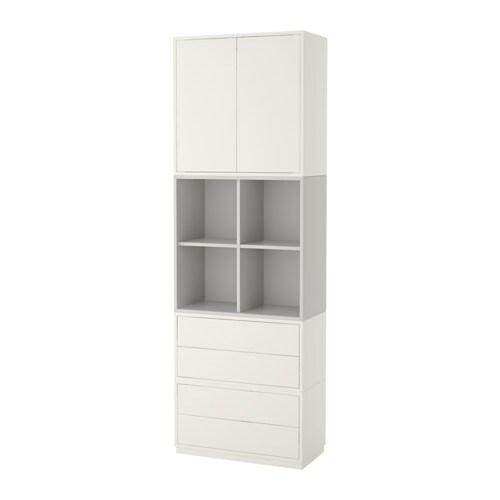 eket rangement avec plinthe blanc gris clair ikea. Black Bedroom Furniture Sets. Home Design Ideas