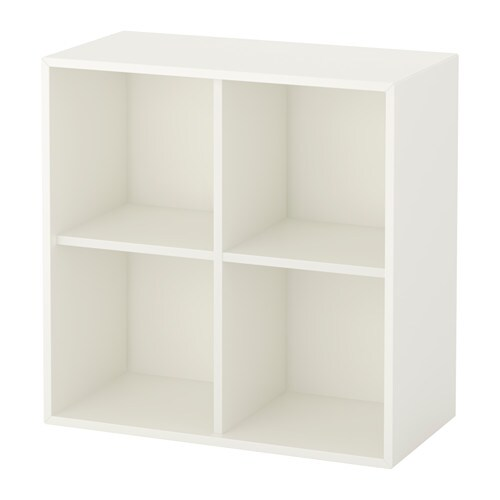 eket rangement 4 compartiments blanc ikea. Black Bedroom Furniture Sets. Home Design Ideas