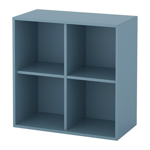 eket rangement 4 compartiments bleu clair ikea. Black Bedroom Furniture Sets. Home Design Ideas