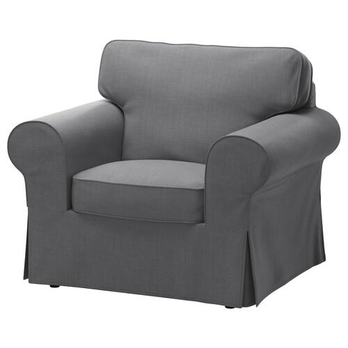"""EKTORP fauteuil Nordvalla gris foncé 41 """" 34 5/8 """" 34 5/8 """" 21 1/4 """" 17 3/4 """""""