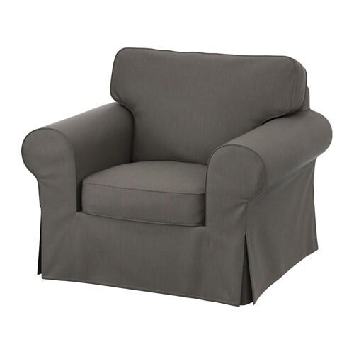 Ektorp housse fauteuil nordvalla gris ikea - Housse pour fauteuil ikea ...