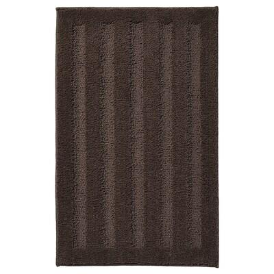 "EMTEN Tapis de bain, brun foncé, 20x32 """