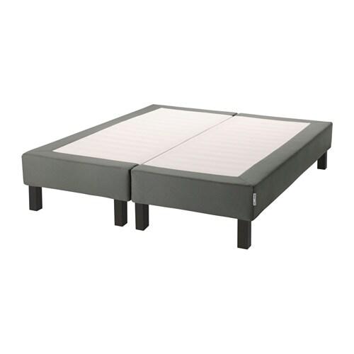 espev r sommier tapissier sur pieds tr s grand deux. Black Bedroom Furniture Sets. Home Design Ideas