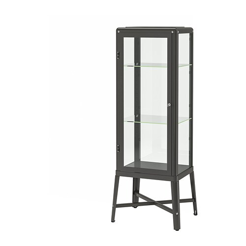 fabrik r vitrine gris fonc ikea. Black Bedroom Furniture Sets. Home Design Ideas