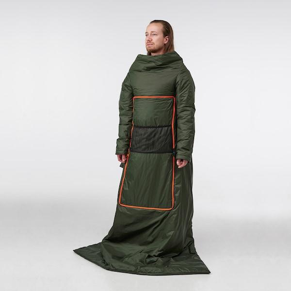 """FÄLTMAL Coussin/oreiller, vert profond, 75x47 """""""