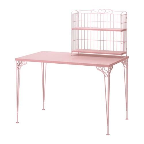 falkh jden bureau avec l ment compl mentaire rose ikea. Black Bedroom Furniture Sets. Home Design Ideas