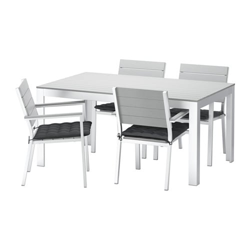 falster table 4 chaises accoud ext rieur falster gris h ll noir ikea. Black Bedroom Furniture Sets. Home Design Ideas