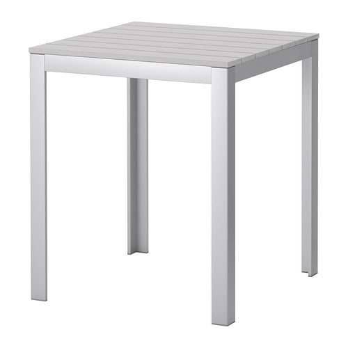 Falster table ext rieur gris ikea for Table exterieur plastique noir