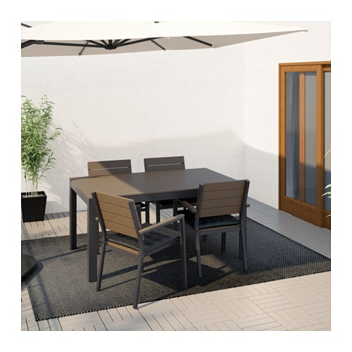 Falster table ext rieur ikea for Table exterieur plastique noir