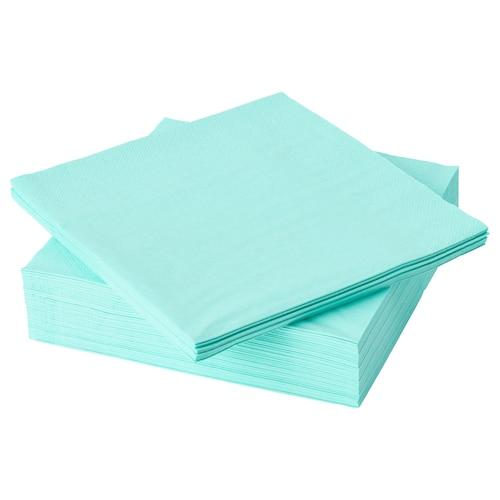 """FANTASTISK serviette en papier turquoise clair 15 ¾ """" 15 ¾ """" 50 pièces"""