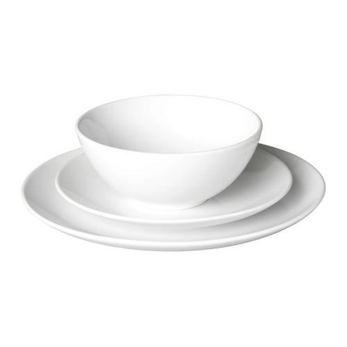 F rgrik service de vaisselle 18 pi ces blanc gr s ikea for Ikea vaisselle de table