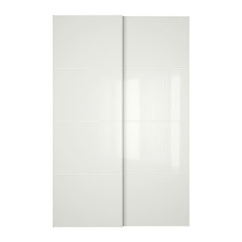 f rvik portes coulissantes 2 pi ces 150x236 cm amortisseur pour porte coulissante ikea. Black Bedroom Furniture Sets. Home Design Ideas