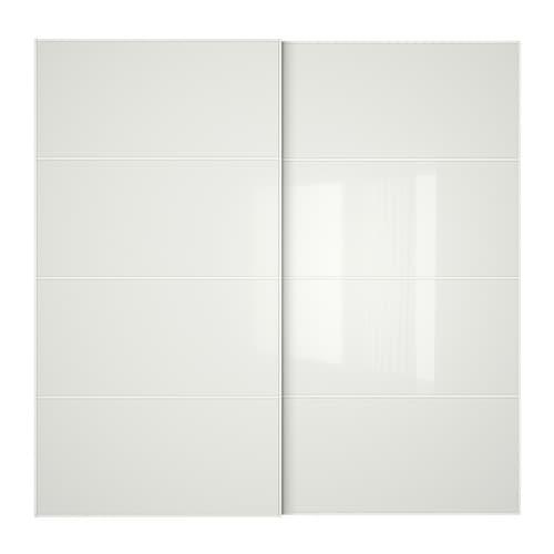 F rvik portes coulissantes 2 pi ces 200x201 cm amortisseur pour porte cou - Porte coulissantes ikea ...