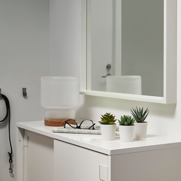 """FEJKA Plante artificielle en pot, intérieur/extérieur plante succulente, 2 ¼ """" 3 pièces"""
