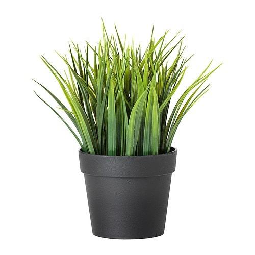 FEJKA Plante artificielle en pot, herbe