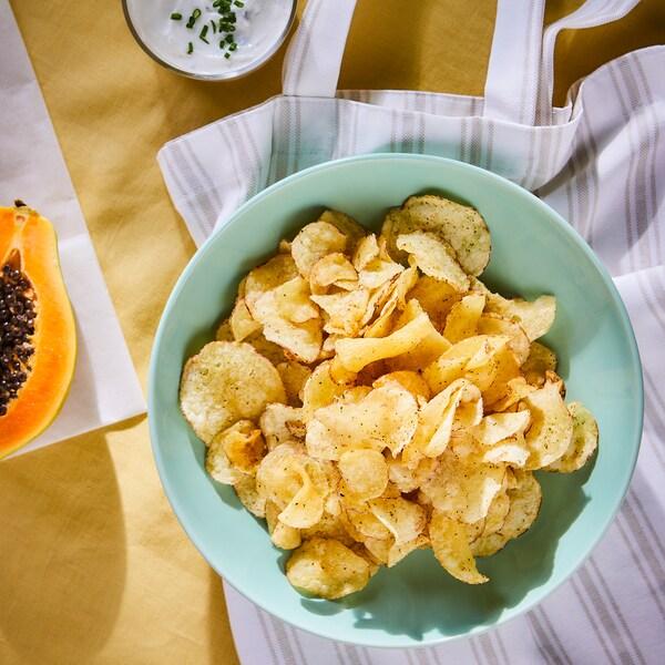 FESTLIGT Croustilles, crème sûre/oignon, 5 oz