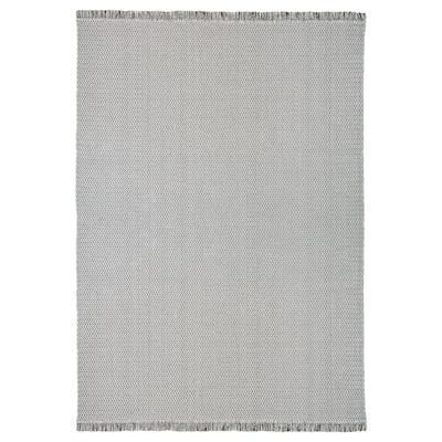 "FILSKOV Tapis tissé plat, fait main gris/blanc, 5 ' 7 ""x7 ' 10 """