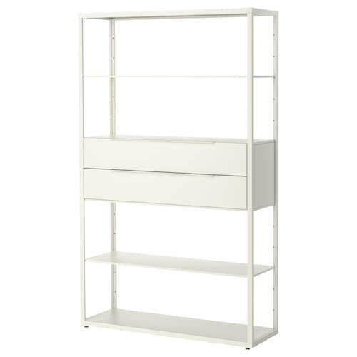 """FJÄLKINGE étagère avec tiroirs blanc 46 1/2 """" 13 3/4 """" 76 """" 88 lb"""