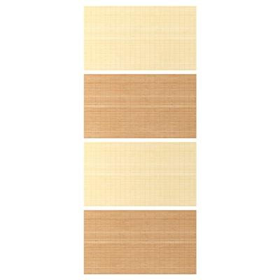 """FJELLHAMAR 4 panneaux pr pte coul, bambou/double face, 39 3/8x92 7/8 """""""