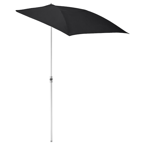 "FLISÖ parasol noir 63 "" 39 3/8 "" 1 1/4 "" 59 "" 90 1/2 "" 0.56 oz/sq ft"