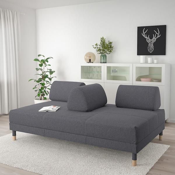 """FLOTTEBO Canapé-lit, Gunnared gris moyen, 47 1/4 """""""