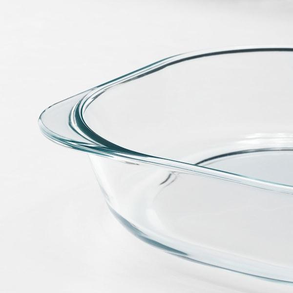 """FÖLJSAM Plat à four, verre clair, 9 ¾x9 ¾ """""""