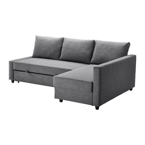 Friheten Canape Lit D Angle Avec Rangement Skiftebo Gris Fonce Ikea