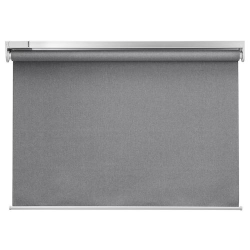 """FYRTUR store à enrouleur opaque sans fil/à pile gris 25 ¼ """" 27 """" 76 ¾ """" 13.45 pied carré"""