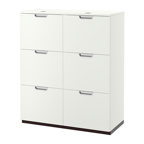 Galant agencement rangements pr dossiers blanc ikea for Ikea agencement