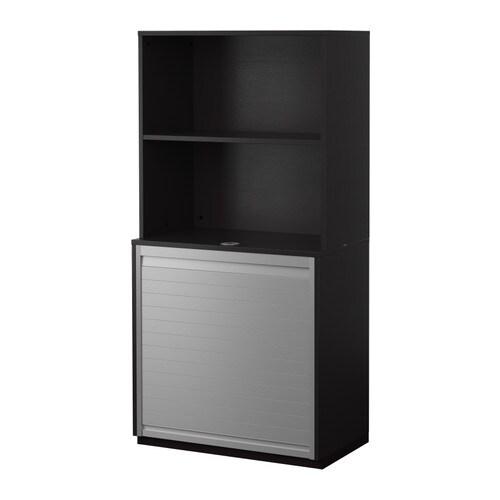 Galant rangement rideau avec tag re brun noir ikea - Ikea rangement etagere ...