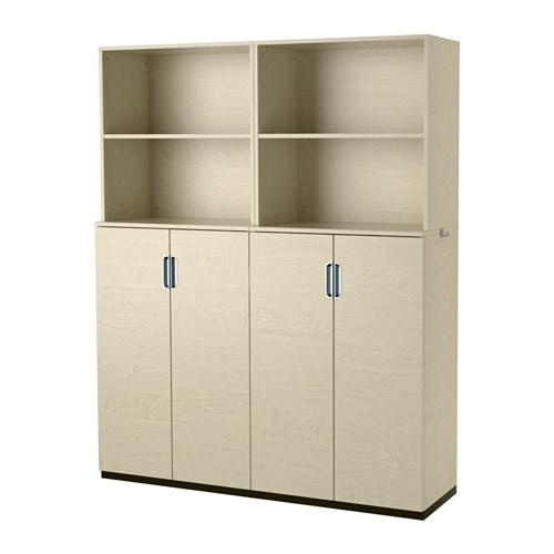 GALANT Rangement avec portes - bouleau plaqué - IKEA