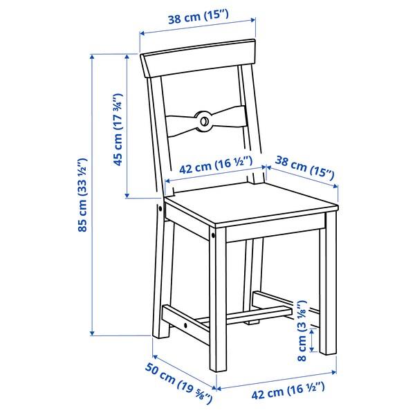 GAMLEBY Chaise, teinté clair à l'ancienne/gris